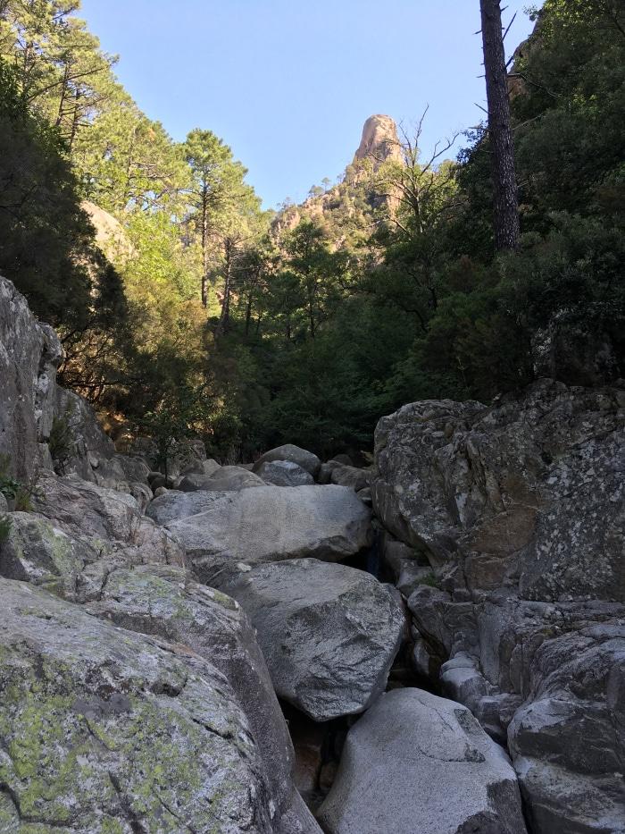 randonnée cascades de purcaraccia
