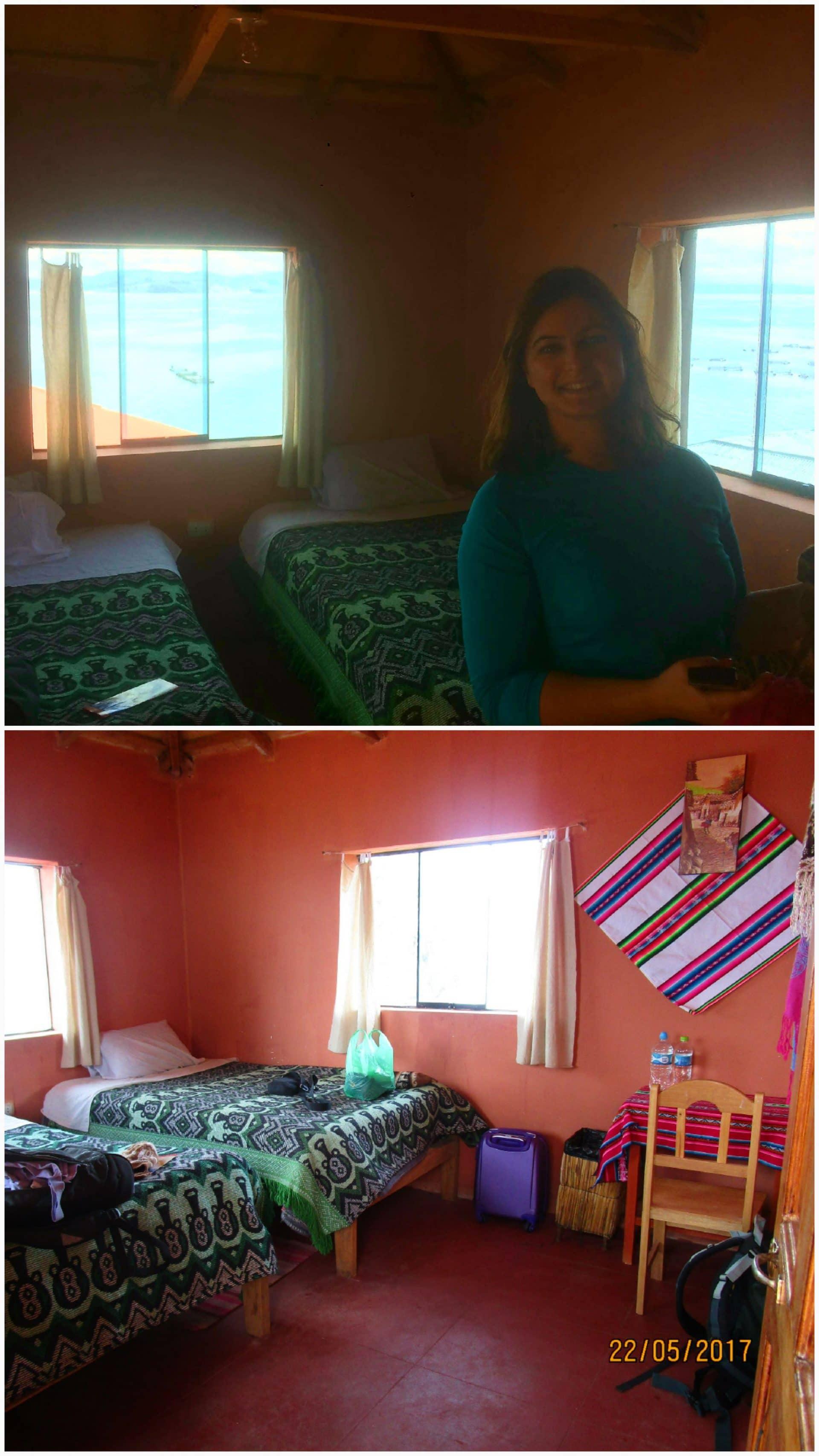 hôtel sur le lac titicaca
