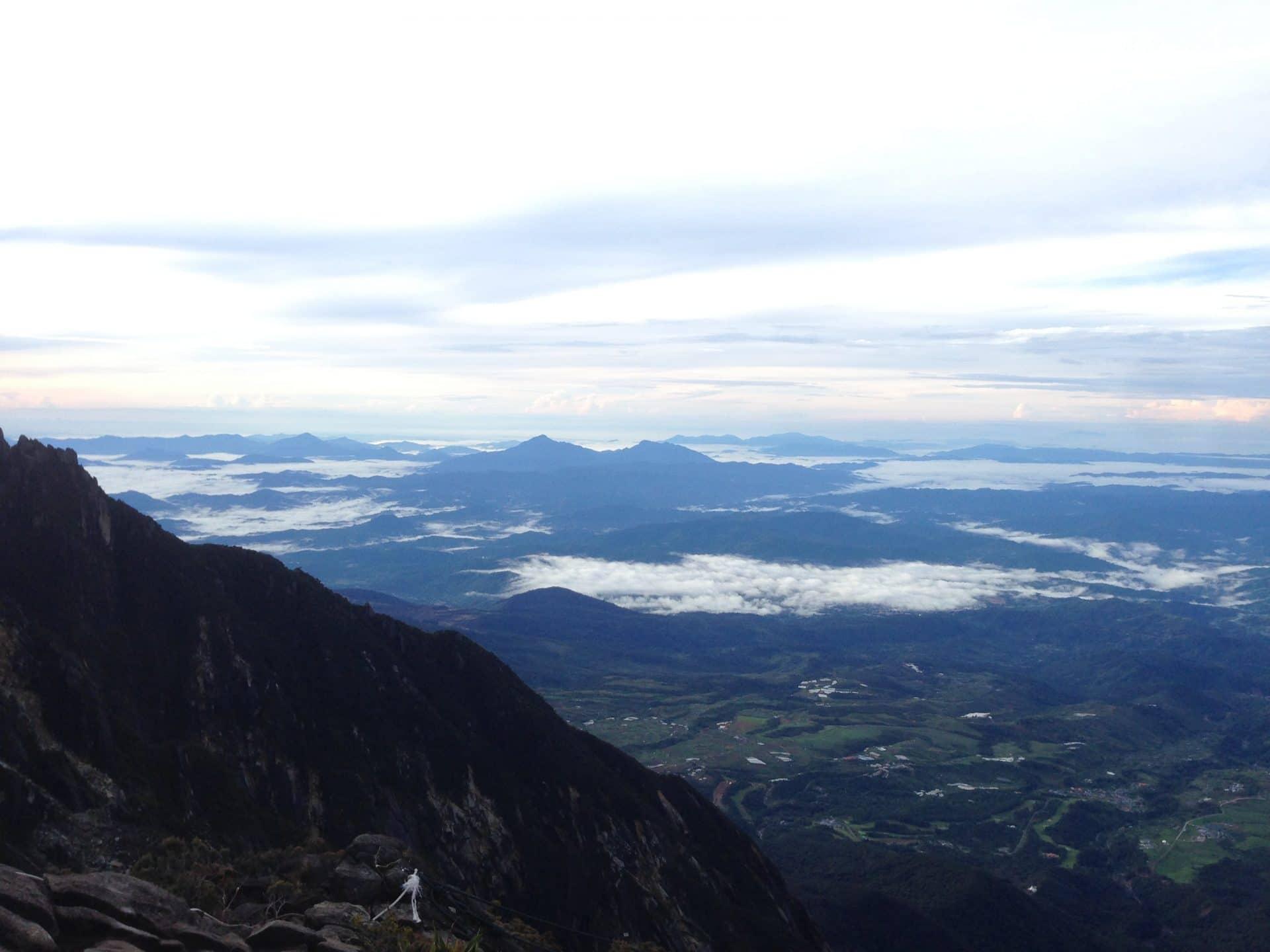 Une vue incroyable sur les collines de Bornéo