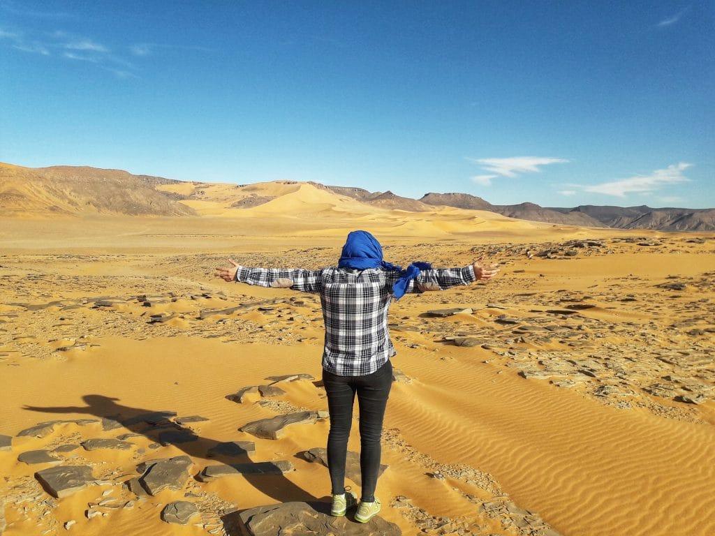 5 jours de Trek dans la Tadrart rouge prés de Djanet (Algérie)