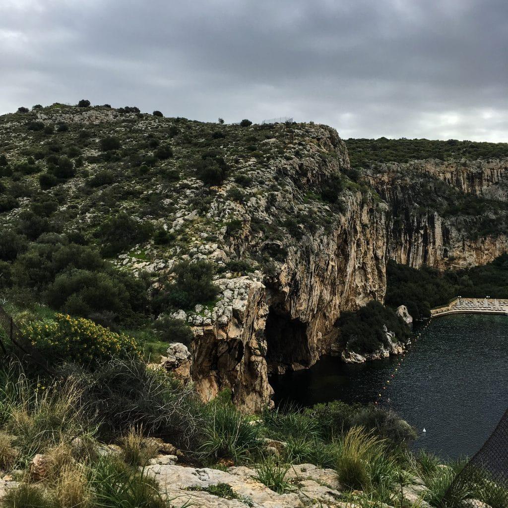 Lac Vouliagmeni - Source d'eau chaude à une heure d'Athènes