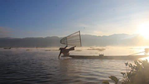 Les pêcheurs du Lac Inle (Birmanie)