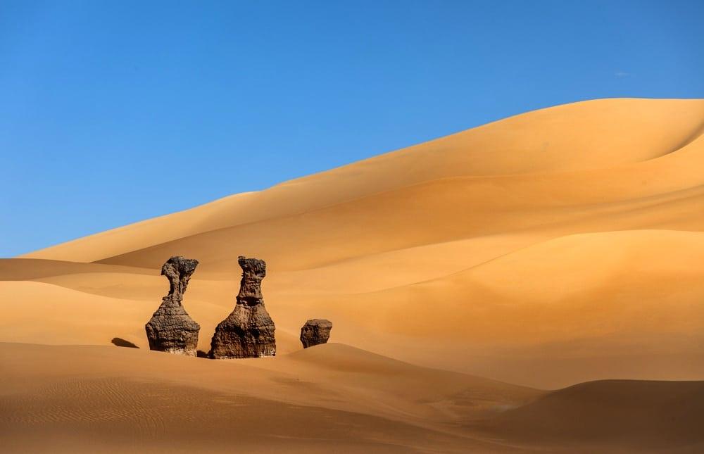 Trek dans la Tadrart rouge en Algerie