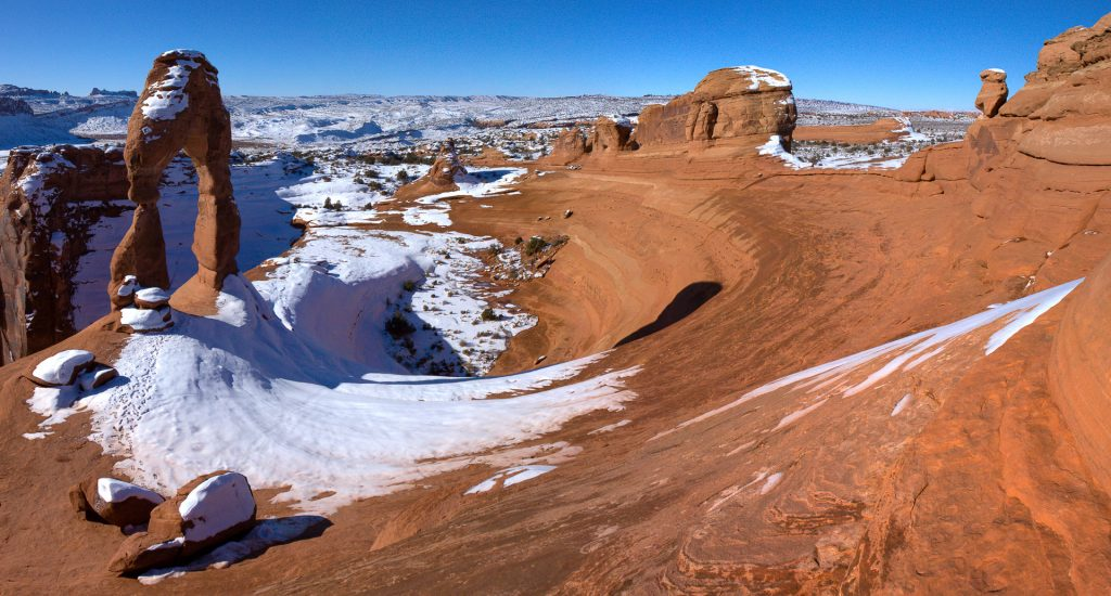 Delicate Arch en hiver
