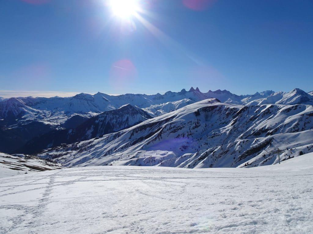 Rando en raquette à la Toussuire, en Savoie