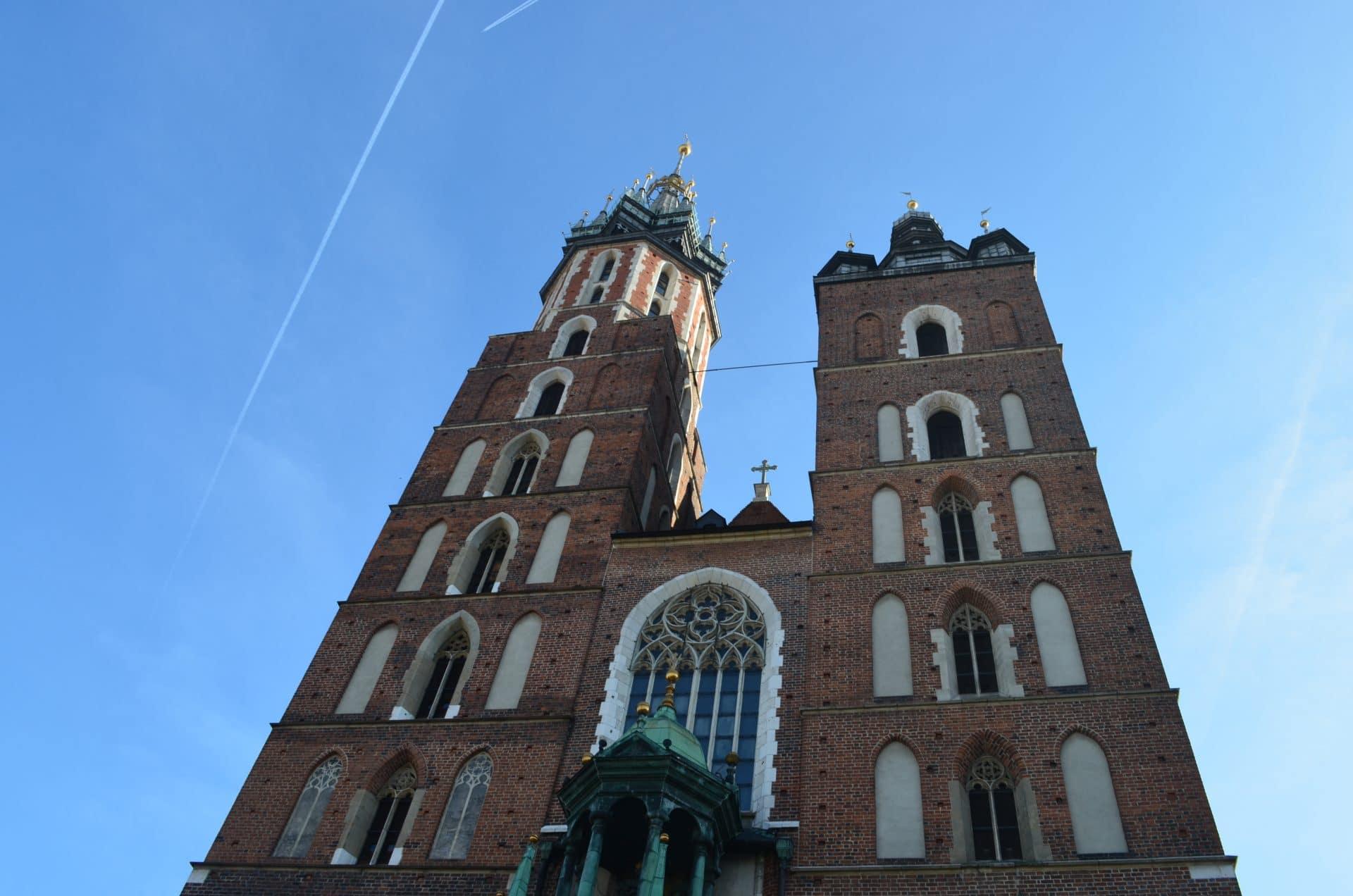 Église à krakow lors du road trip en pologne