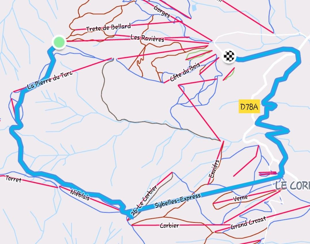 Plan des pistes Les Sybelles