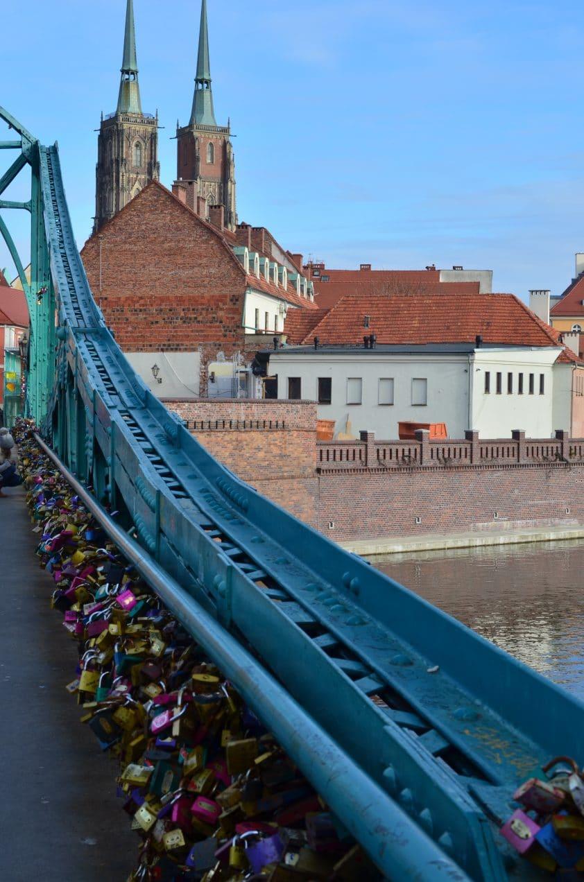 pont des cadenas à Wroclaw road trip pologne