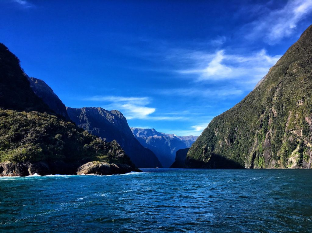 voyage en nouvelle zelande océan Bleu