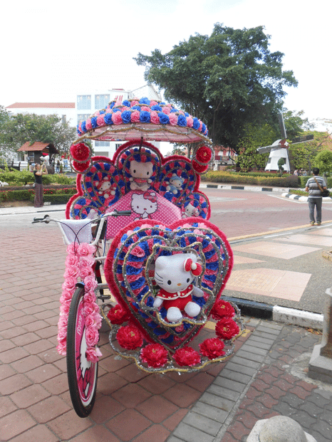 rickshaws hello Kitty road trip malaisie