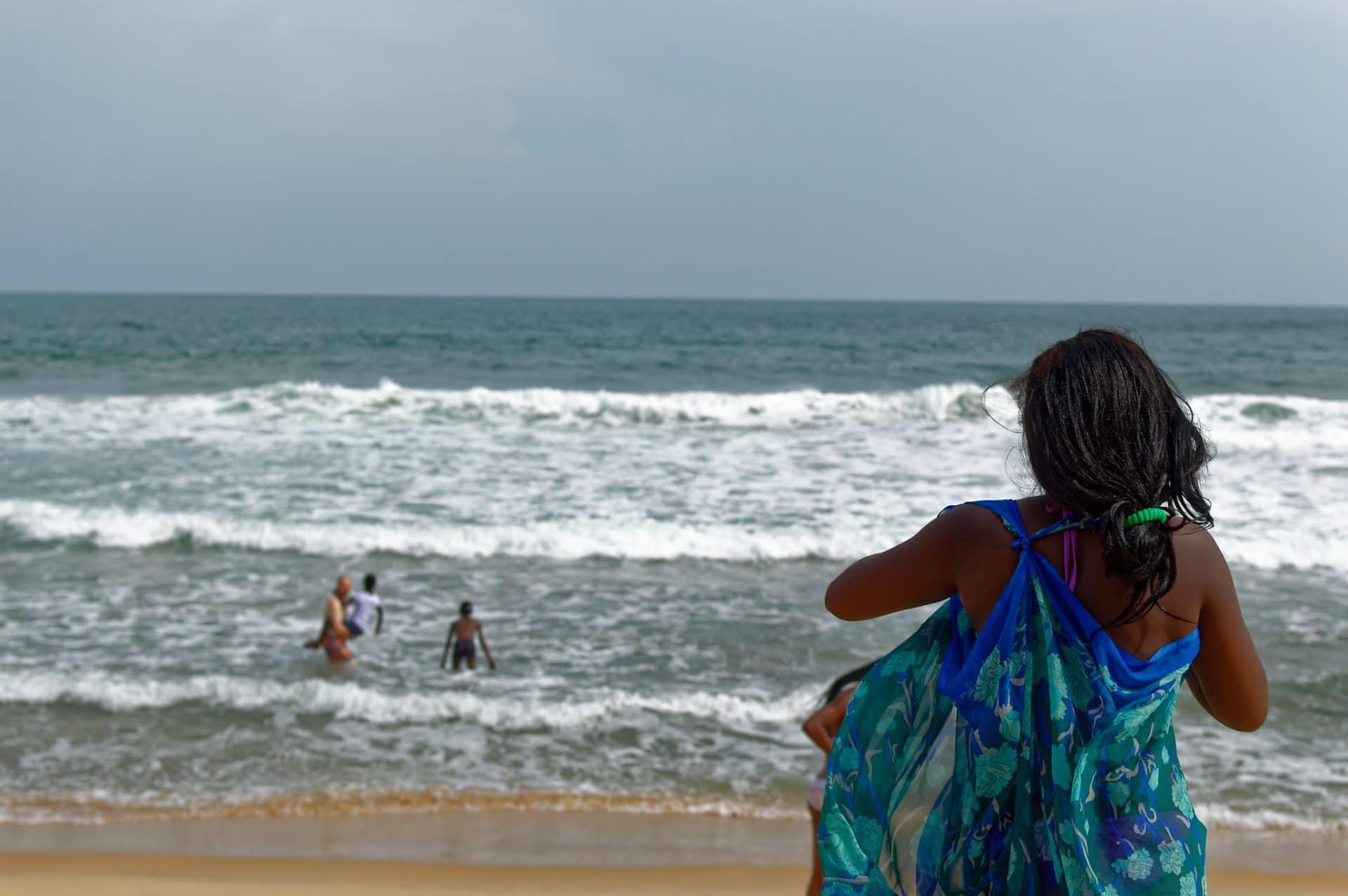 Bassam sur la plage en Côte d'Ivoire
