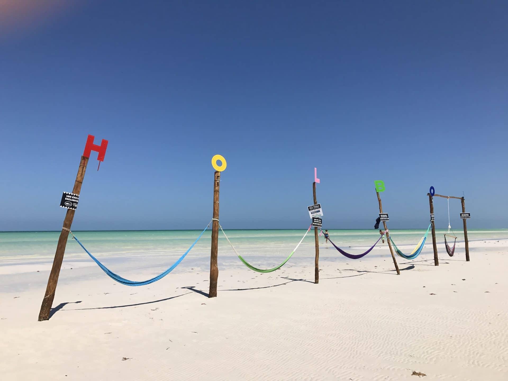 plage de holbox lors du road trip à yucatan