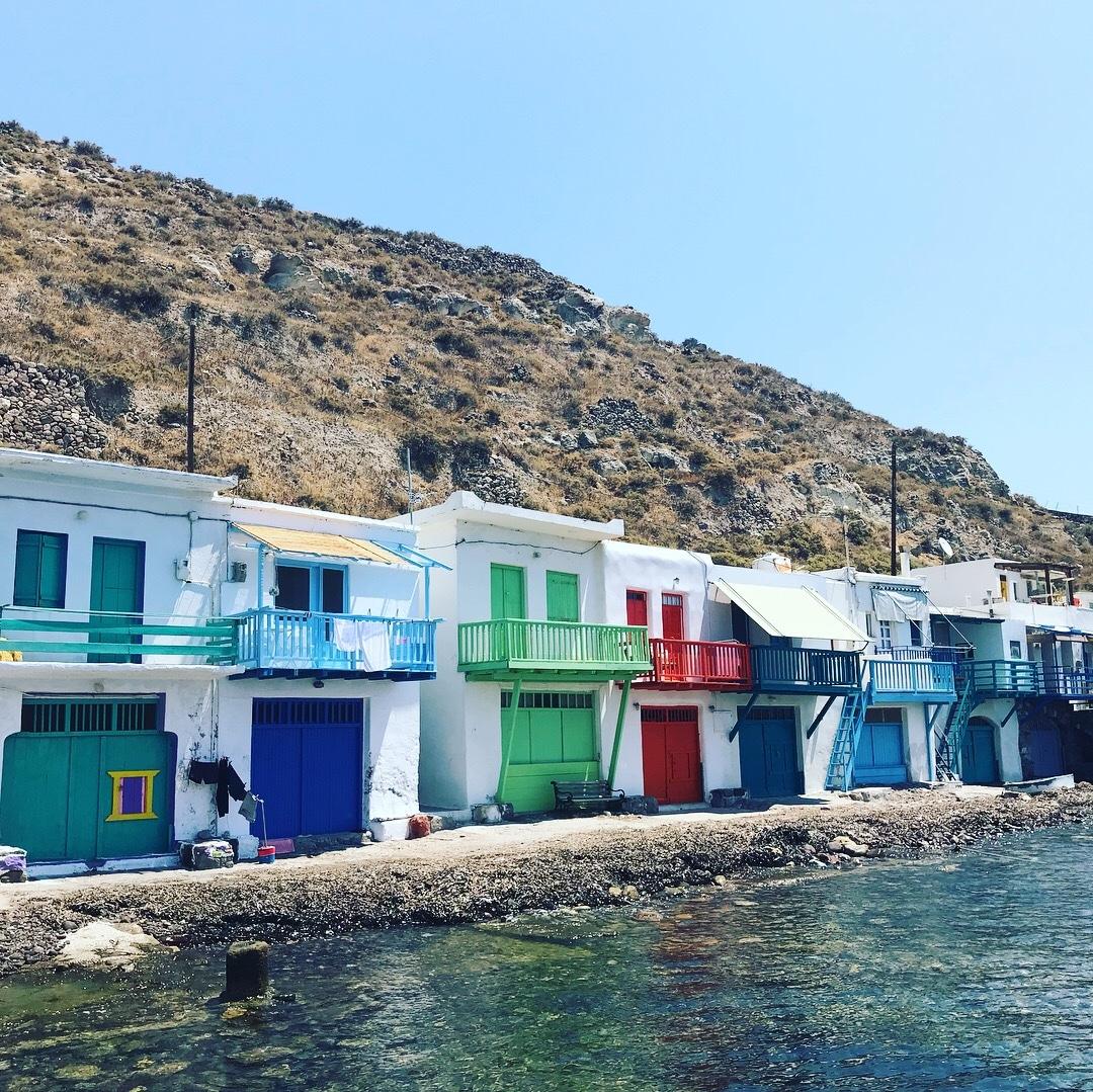 Mandrakia petit village de pêcheur en Grèce