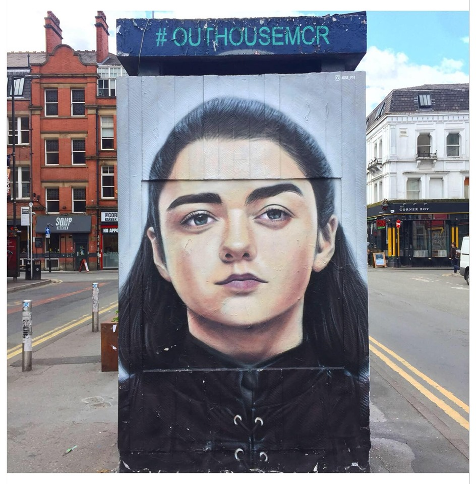 street art arya stark manchester
