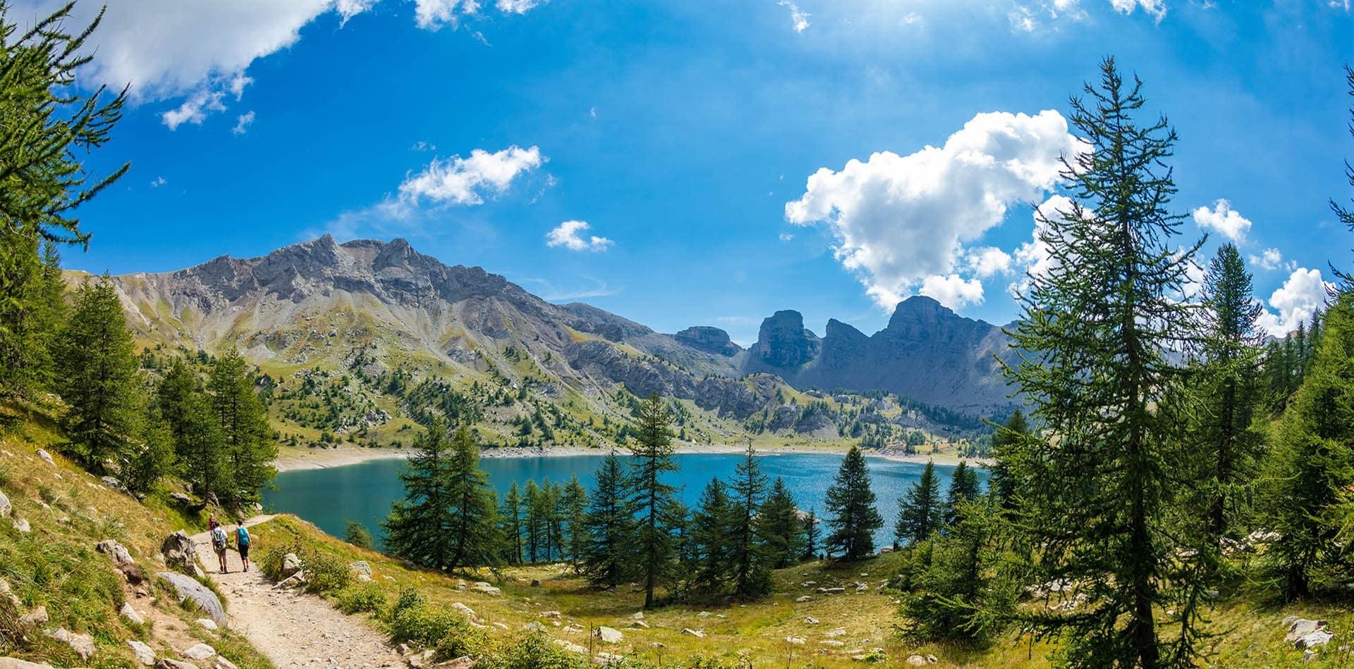 randonnée foux d'allos panorama lac