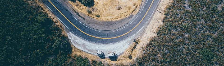 route road trip drone
