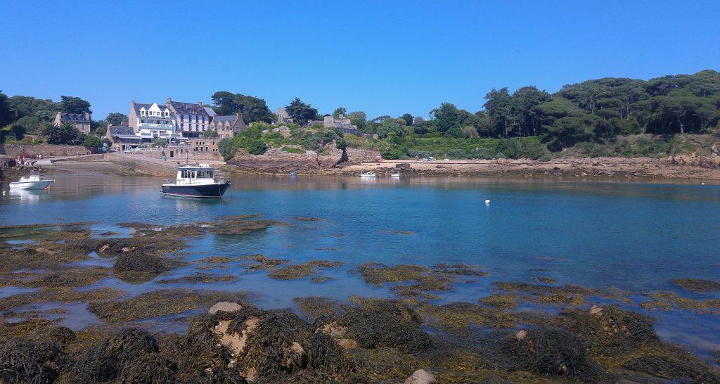 Bretagne ile de brehat marée bateaux