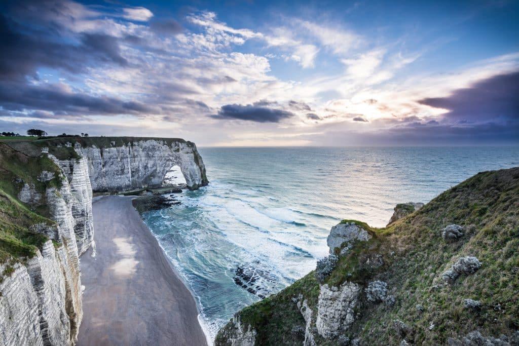 Etretat Normandie Falaise plage