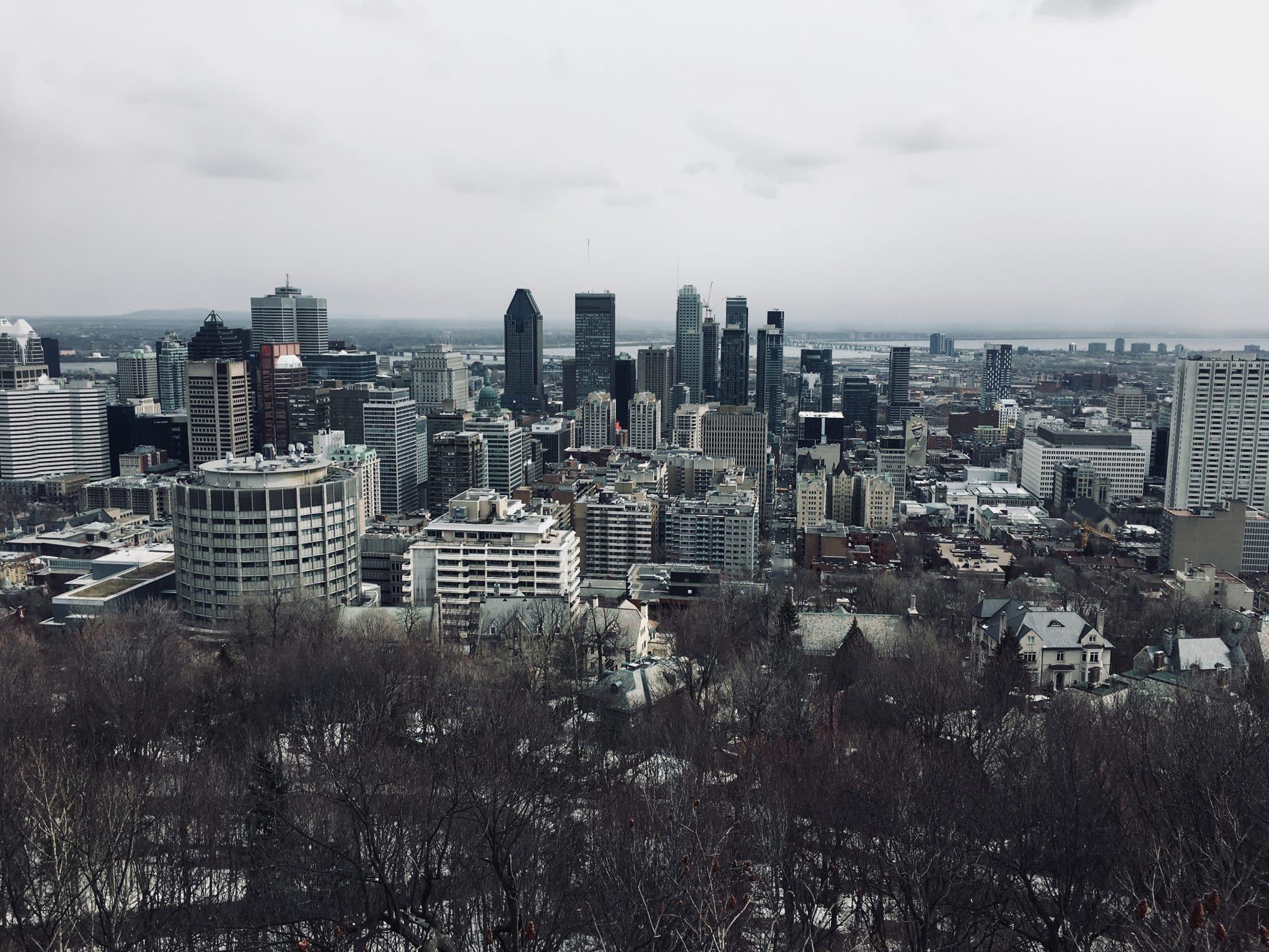 parc du Mont Royal panorama montréal