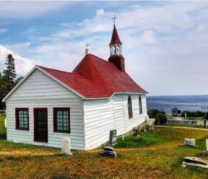 chapelle et vue sur le saint laurent