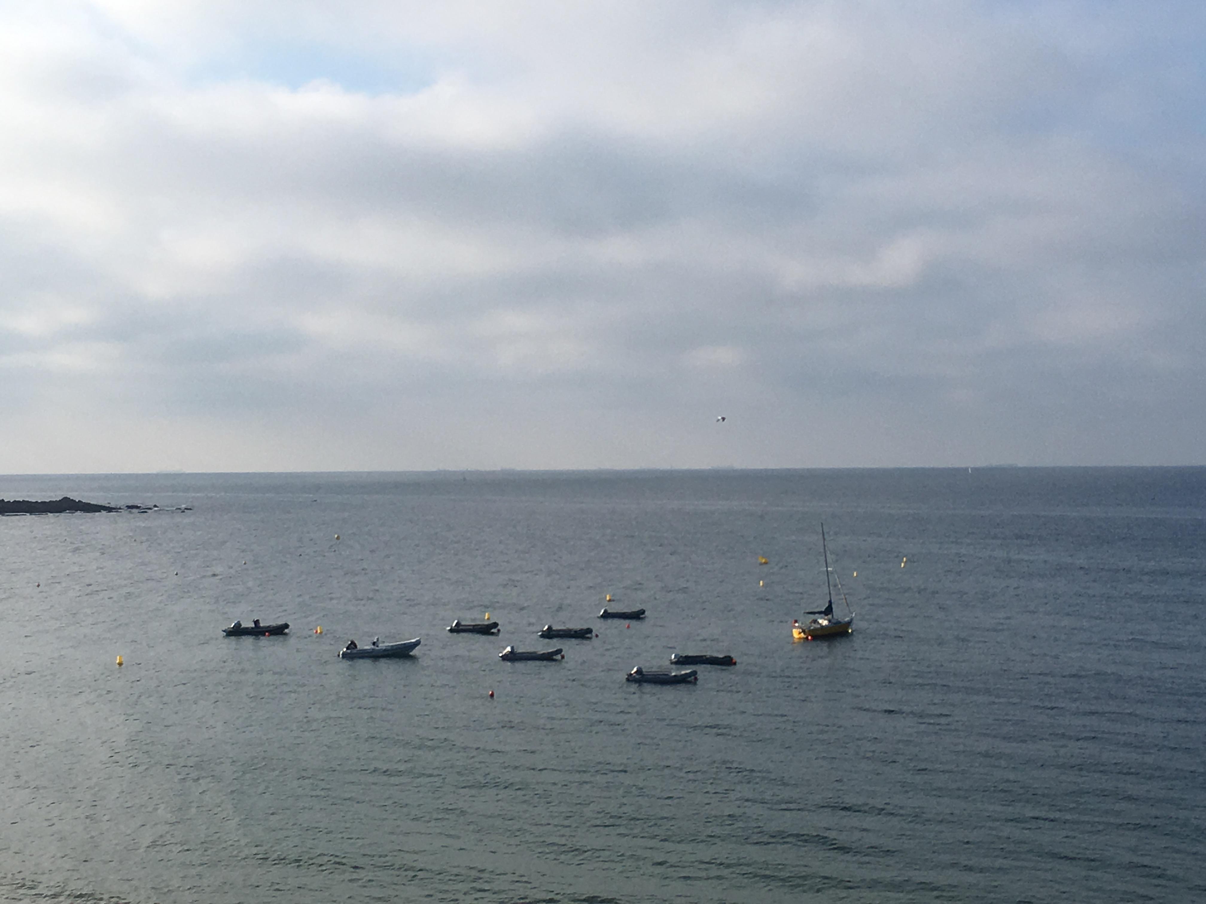 mer le croisic baie et bateaux