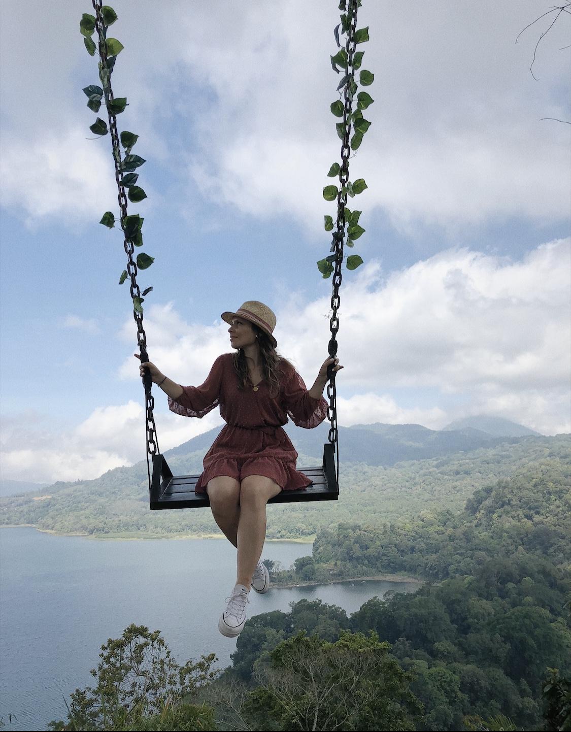 Twin Lake Selfie Bali