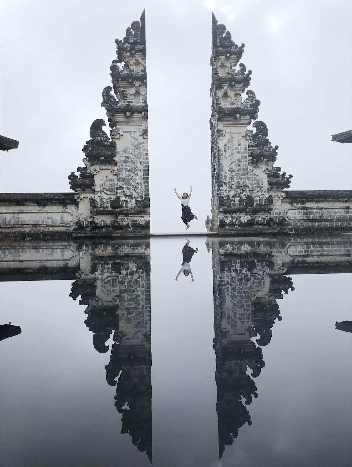 Partir seule à bali reflet