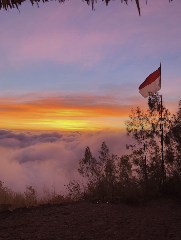 Mon Batur Sunset couché de soleil