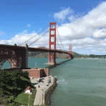 san francisco lieux d'intérêt Golden Gate Bridge Vue mer