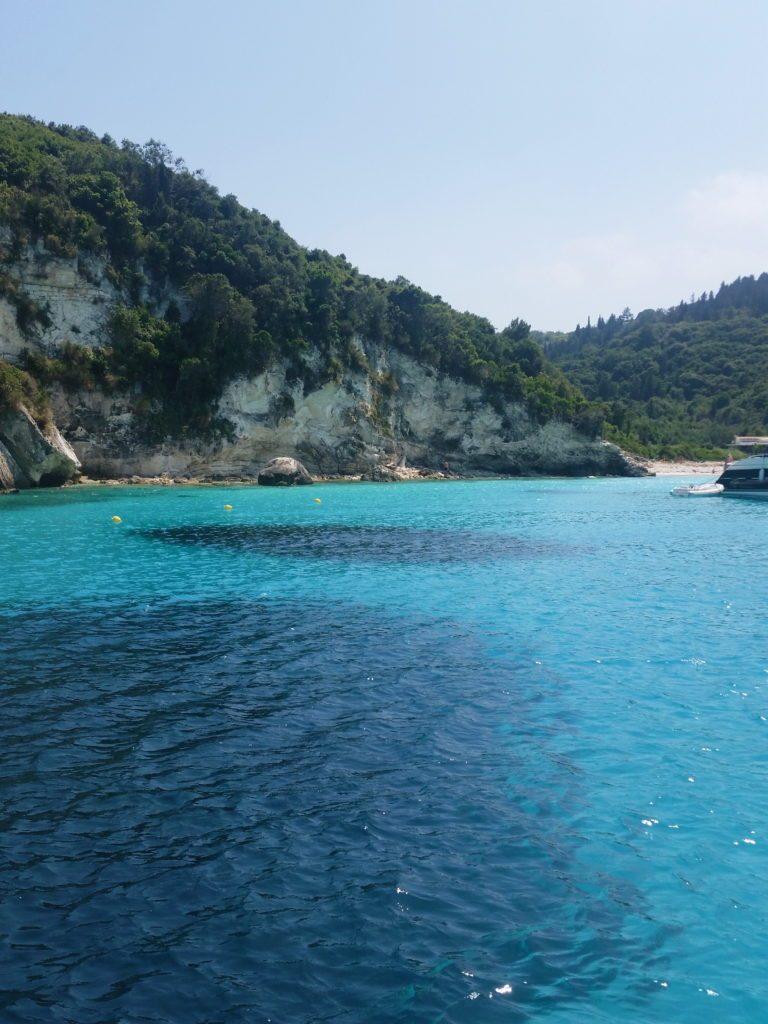 Séjour Corfou ile de paxos eau bleue turquoise