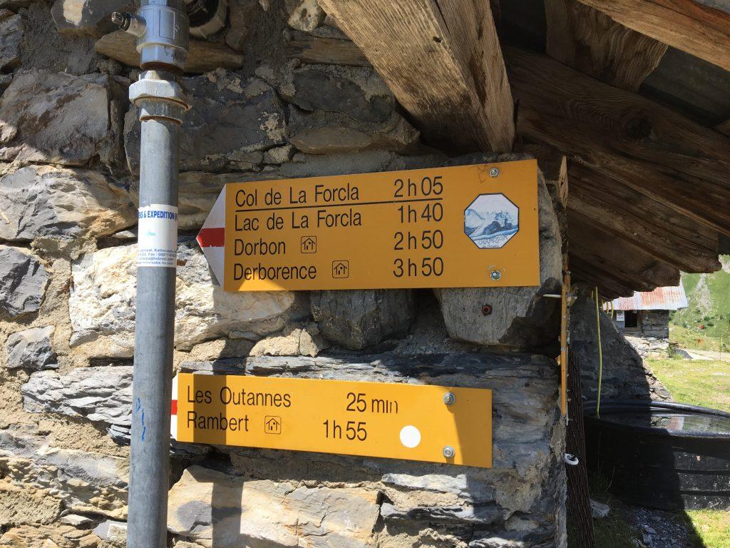 Panneau randonnée Dent de Chamosentse