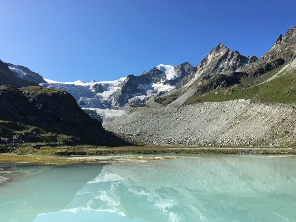 Lac glacier de moiry suisse
