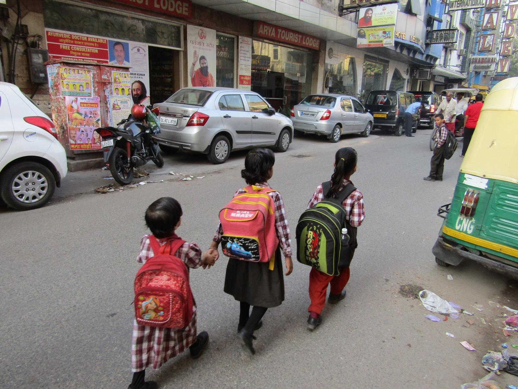 écoliers delhi inde