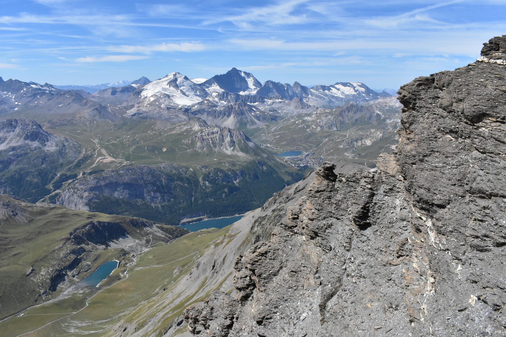 panorama vallée tignes