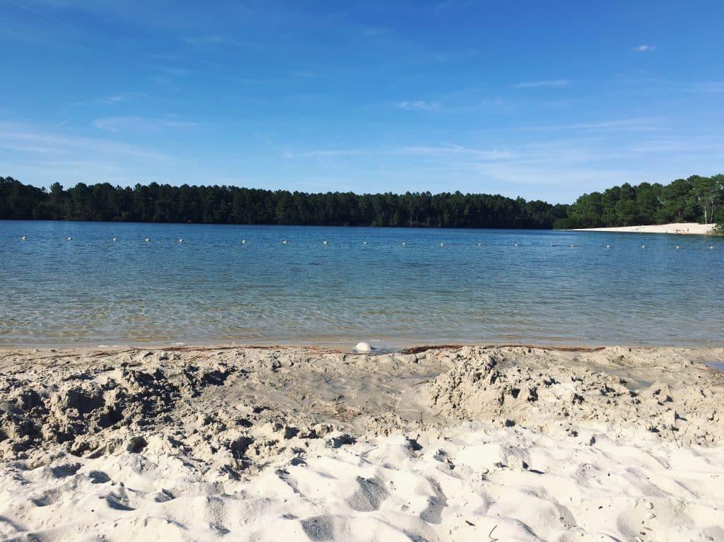 Lac Hostens plage