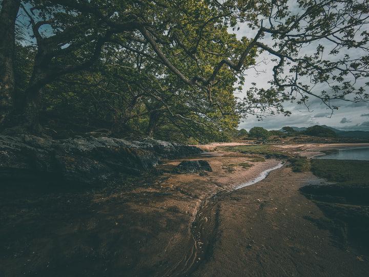 balade sur la plage de Portmeirion