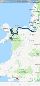 map parcours road trip