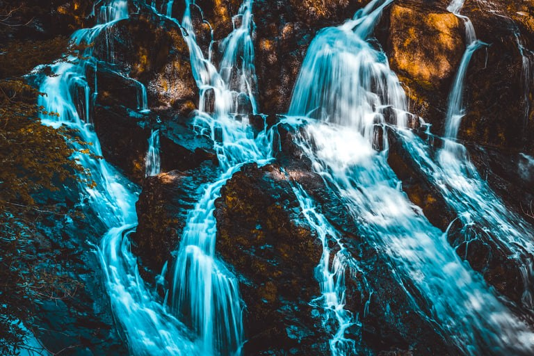 Cascade Betws-y-Coed Snowdonia national park