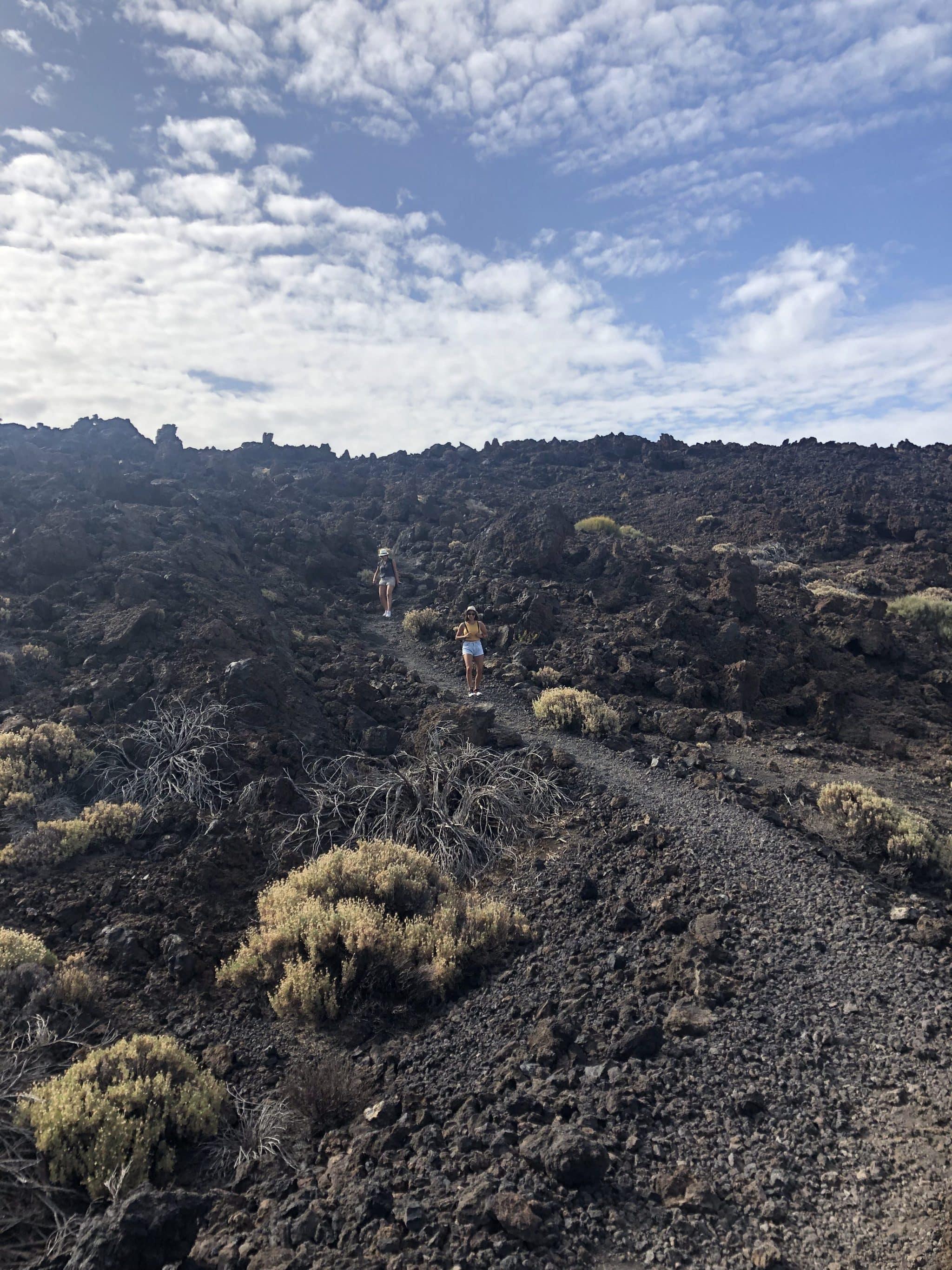 sentier pico Viejos lave volcanique