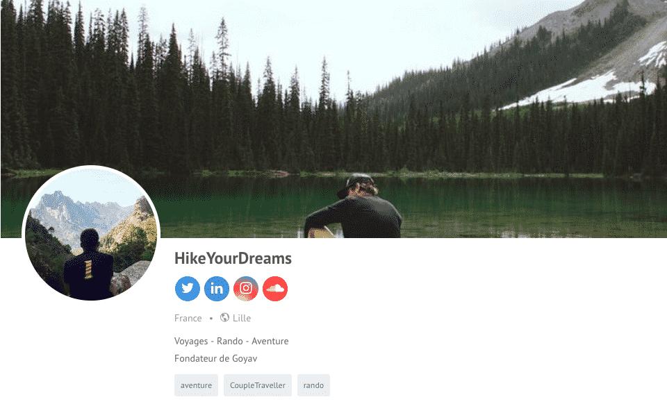 hikeyourdreams fondateur goyav profil blog de voyage carnet de voyage en ligne