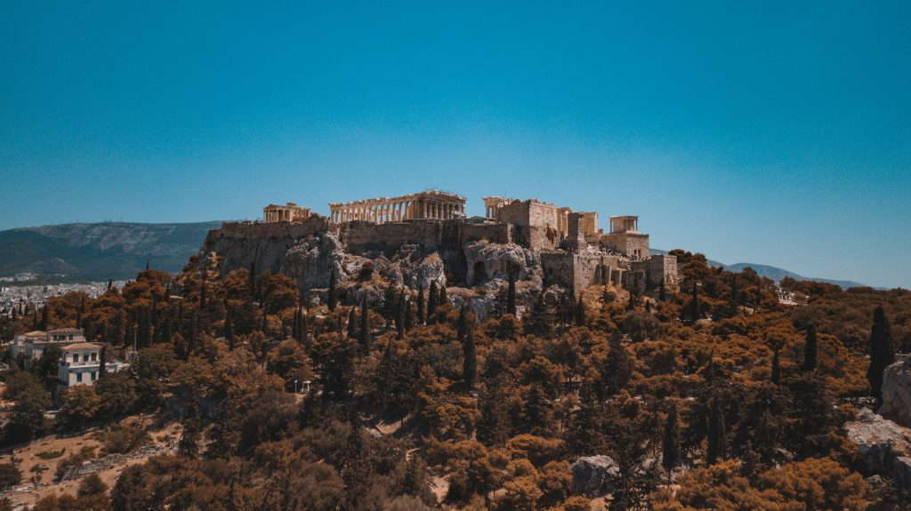 Acropole athene road trip grece