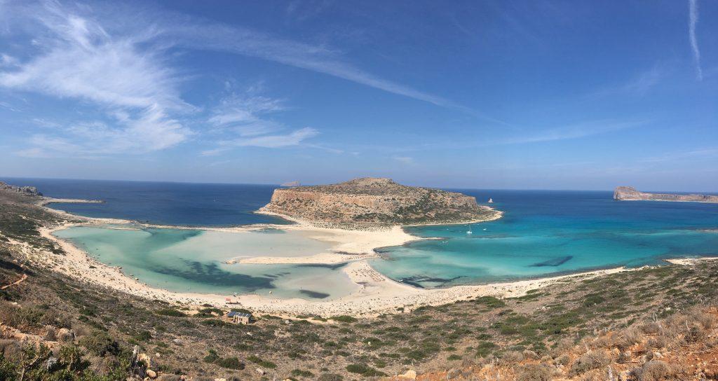 paysage plage road trip crete