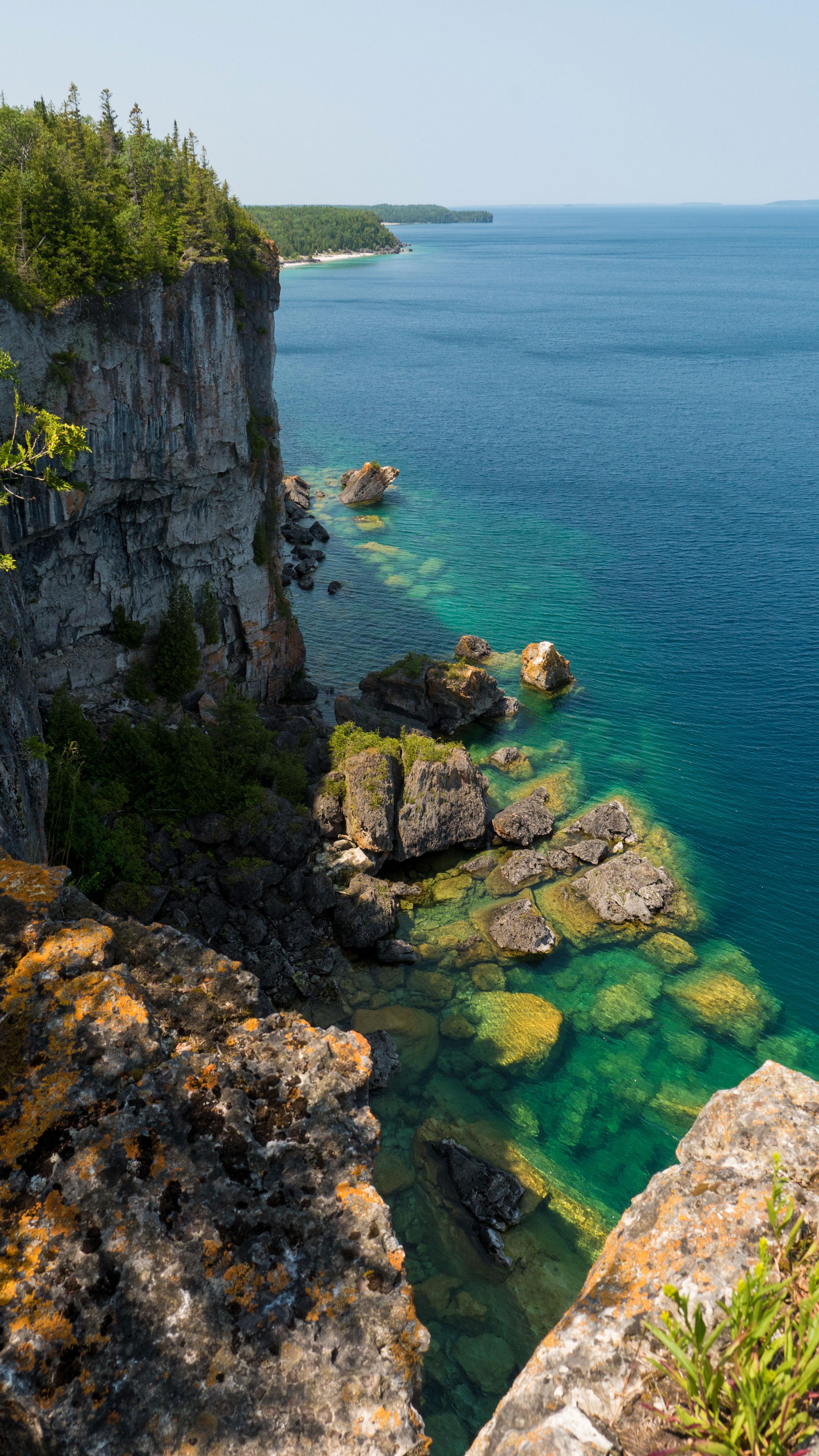 bruce peninsula falaises