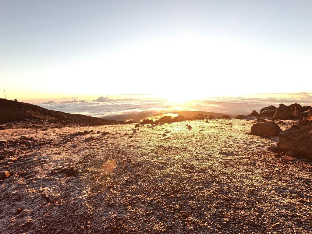 lever de soleil au piton des nieges