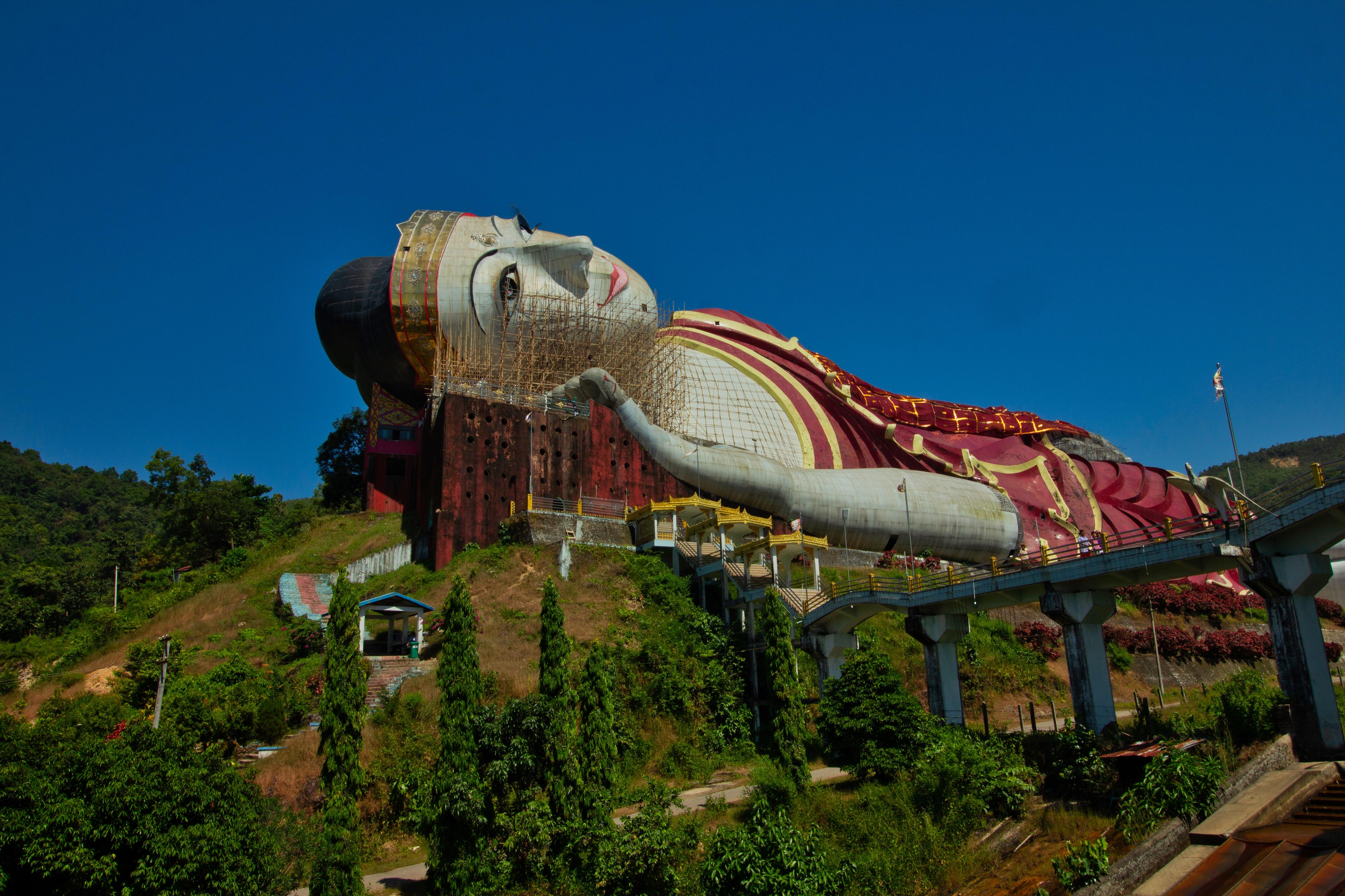moulmein statue birmanie voyage
