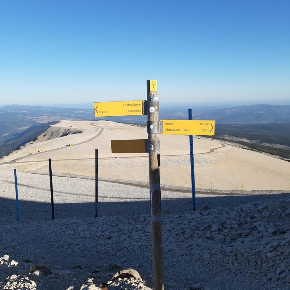 panneaux randonnée mont ventoux
