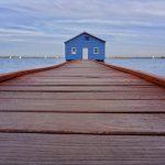 ponton maison bleue Perth