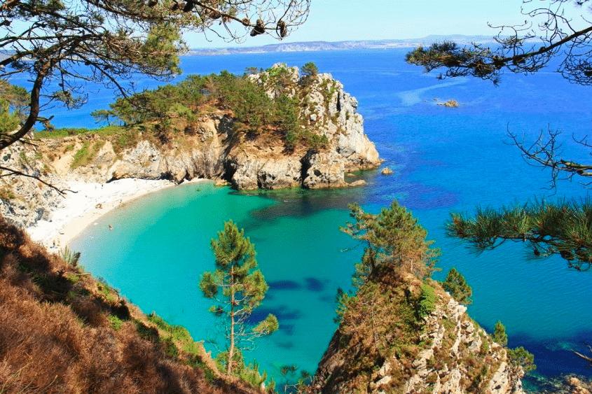 plage de l'île vierge crozon