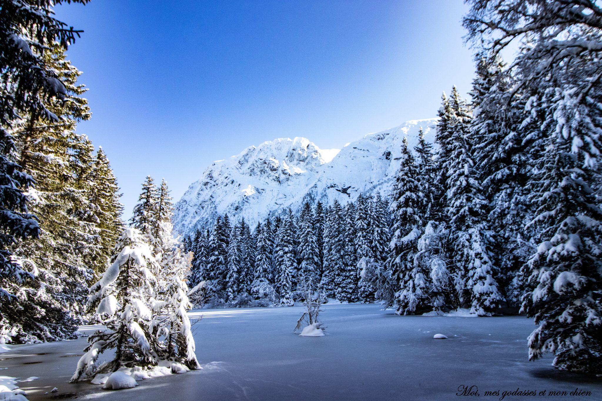 Le lac fourchu (bivouac hivernal) en Isère