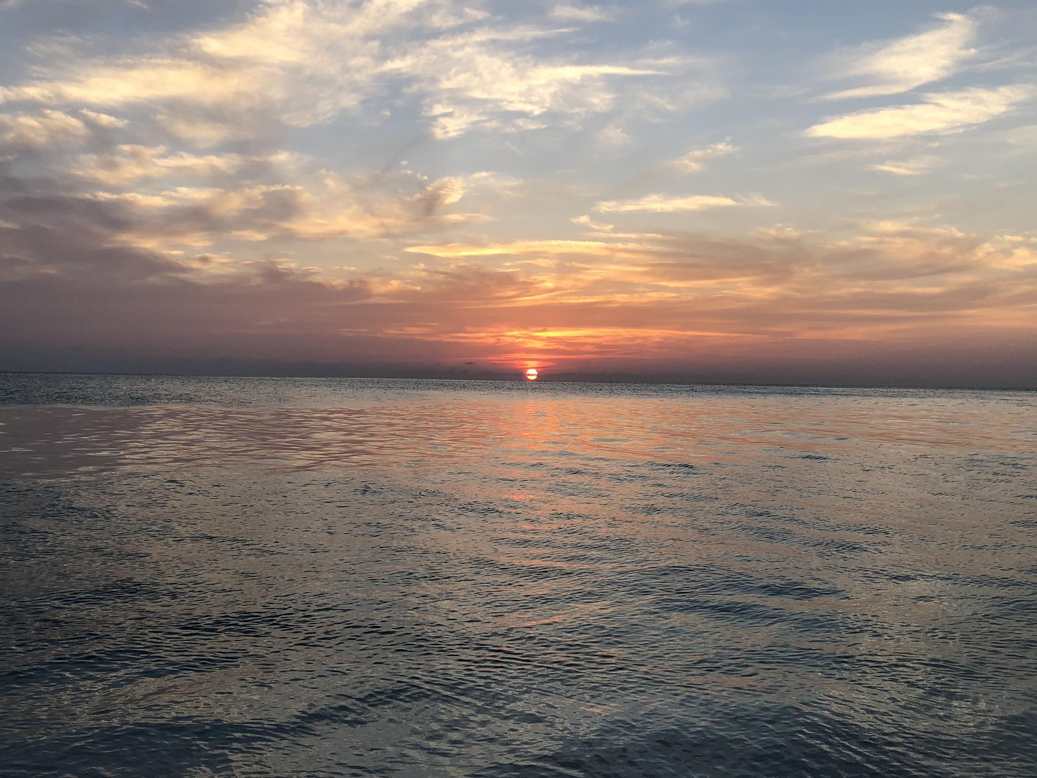 coucher de soleil maldives